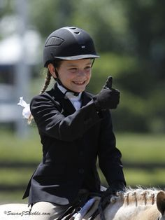 We love this photo from the Lendon Gray Youth Dressage Festival website.
