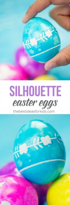 Make These Easy Silouhette Easter Eggs With The Kids