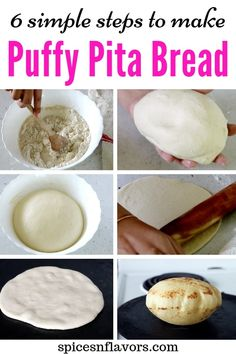 The only 6 simple steps you need to know to make Pita Bread at home like a BOSS! Find all the tips and tricks to make soft, chewy and puffy pita bread. Bread Recipes, Baking Recipes, Pain Artisanal, Homemade Pita Bread, Pita Bread Sandwich, Pita Pockets, Chapati, Snacks, Crack Crackers