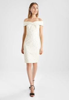 BARDOT PENCIL DRESS - Sukienka koktajlowa - ivory