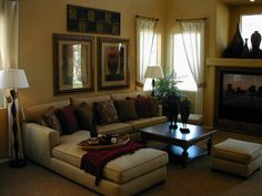 living rooms with brown couches - Google Search