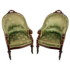 Pair of antique George IV mahogany library arm chairs. These early century antique library arm chairs are available to buy online now. Georgian Furniture, Antique Furniture, Arm Chairs, Accent Chairs, Library Chair, Antique Chairs, Green Silk, 19th Century, Arms