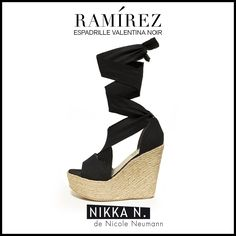 Espadrilles Ramirez Nikka verano 2015 modelo Valentina noir disponible en tienda Ramirez Peru 587 y en nuestro Showroom Humboldt 1550 of 111 #ramirez #nikka #crueltyfree #espadrilles #valentina #zapatos