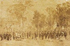 Membros do Batalhão de Voluntários da Pátria, regimento proveniente da longínqua província do Ceará, entre 1867 e 1868