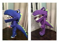 Homemade Halloween Costume - How To Make A Dinosaur CostumeMy three year old grandson, Jack, wants to be a dinosaur for Halloween...not just any dinosaur,