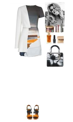 """Outfit"" by eliza-redkina ❤ liked on Polyvore featuring Jaeger, BCBGMAXAZRIA, Fendi, Too Faced Cosmetics, MAC Cosmetics, Urban Decay, Bobbi Brown Cosmetics, Lancôme, Kester Black and Christian Dior"