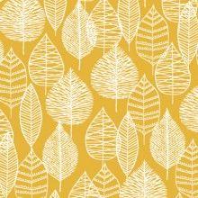 Bark & Branch Canvas - Line Leaf in Gold