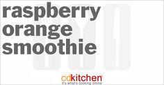 Raspberry Orange Smoothie from CDKitchen.com