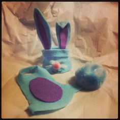 Elf Shelf Blue and Purple Easter Bunny Costume with Bendable Ears and Fluffy Tail!  https://www.etsy.com/listing/176607387/elf-shelf-blue-and-purple-easter-bunny?