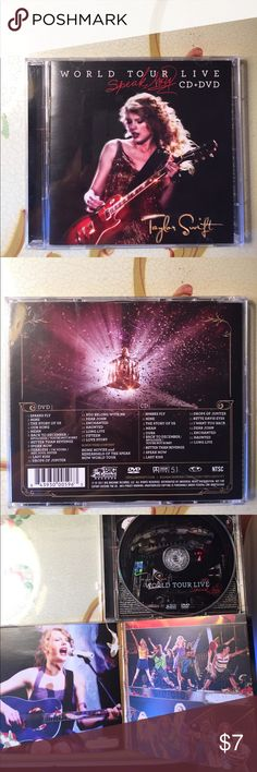 Taylor Swift Speak Now World Tour Live DVD+ CD set Very good condition Other