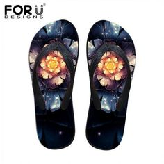 Couple Flip Flops Valentines Heart Gold Print Chic Sandals Slipper Rubber Non-Slip Spa Thong Slippers