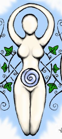 tattoo I want to get with my sisters(just the symbol not the leaves- goddess