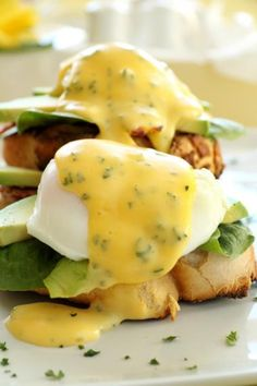 Easy Hollandaise Make this easy Hollandaise sauce in the microwave in seconds. Can be whisked by hand if you dont have a food processor. This recipe serves two and can be d Easy Hollandaise sauce Mayonnaise, Ketchup, Chutney, Recipe For Hollandaise Sauce, Homemade Sauce, Learn To Cook, Fabulous Foods, Pesto, Sauce Recipes