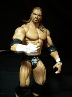 "WWE HHH Triple H Basic Superstar Wrestling 7"" Action Figure Long Hair #Mattel"