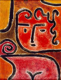 Paul Klee (Swiss, 1879–1940). Hot-Blooded Girl, 1938. Milwaukee Art Museum
