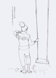 Shikamaru by Naruto's swing.