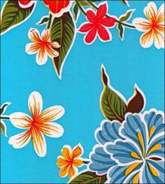 Hawaii Light Blue Oilcloth