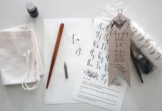 Always wanted to learn calligraphy or know someone that does? Well, this is the ULTIMATE kit to do just that. Kit includes: 1 lettering chart (with