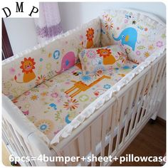 42.80$  Watch here - http://alizc3.shopchina.info/1/go.php?t=32381599154 - Promotion! 6PCS For Baby Bedding Crib Sets Bedding Set  (bumpers+sheet+pillow cover)  #buymethat