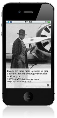 Will Rogers Quote - We are over-governed! Check out the iPhone app!