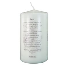 £9.95 Personalised Godparent Candle http://justtherightgift.co.uk/personalised-godparent-candle.html