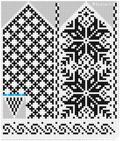 Ravelry: Norwegian Rose - Selbu mittens pattern by Katrine Knitted Mittens Pattern, Fair Isle Knitting Patterns, Knit Mittens, Knitting Charts, Knitted Gloves, Knitting Socks, Knitting Stitches, Fair Isle Chart, Norwegian Knitting