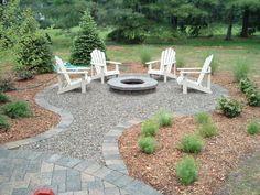 New backyard fire pit landscaping living spaces Ideas Backyard Seating, Backyard Patio Designs, Diy Patio, Backyard Landscaping, Patio Ideas, Outdoor Seating, Garden Seating, Firepit Ideas, Fire Pit Landscaping Ideas