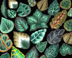 Polymer clay tutorial leaf canes millefiori by EugenasCreations, $16.00