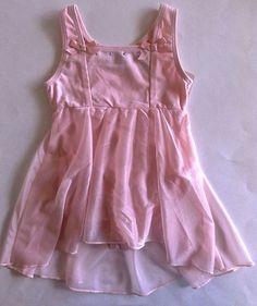 Danskin Leotard Figure Skating Dress Girls Sz XXS 2/3 Asymmetrical Dance Ballet  #Danskin #AsymmetricalHemEmpireWaist