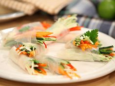 Recetas   Arrolladitos de vegetales con salsa de maní   Utilisima.com