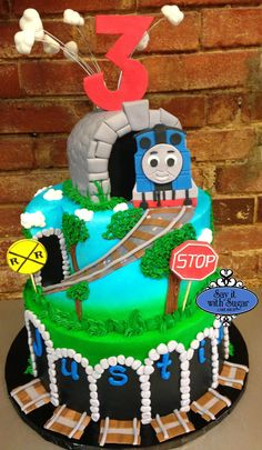Thomas the train cake, kevons birthday cake idea
