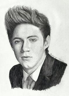 Sketch of Niall Horan