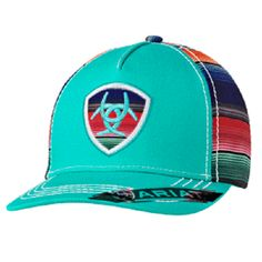 Ariat Women s Turquoise  amp  Serape Snapback Ball Cap 1507933 Southern  Style 0a95b87a90bd