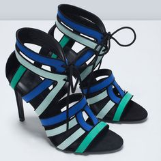 Image 6 of COMBINATION HIGH HEEL SANDAL from Zara