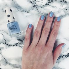 Topshop Nails in Blue Rinse. Great name, fab colour. The fan club also includes @lilypebbles who just popped up a post on it, if you want to see more pics.
