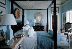 Stanza da letto azzurra