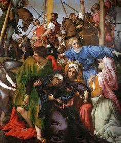 *Lorenzo Lotto: Crucifixion, 1531. Santa Maria in Telusiano, Monte San Giusto, Macerata, Marche.