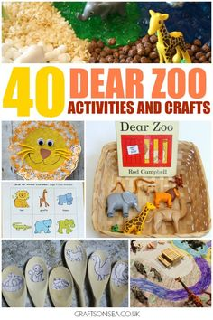Dear Zoo activities and crafts: literacy activities, crafts, sensory play and colouring sheets