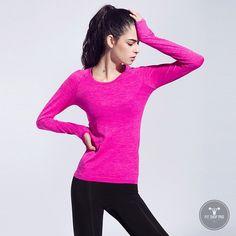 Professional Women Fitness Slim Long Sleeve Shirts