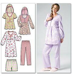 McCall's - M6472 Huiskleding voor dames, top, nachtjapon, shorts en broek | Naaipatronen.nl | zelfmaakmode patroon online