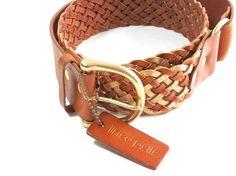 Vintage Leather Belt - Linnea Pelle - Woven Leather - Gold Leather - Adjustable - Boho - Hippie on Etsy, $34.99