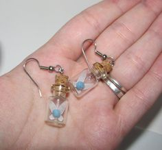Tiny Fairy in a Bottle Earrings - Extra Small - The Legend of Zelda - NES - Bottled Fairy on Etsy, $10.00