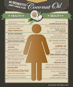 Benefícios do óleo de coco.