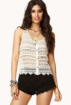Crocheted Boho Top   FOREVER21 - 2040495503