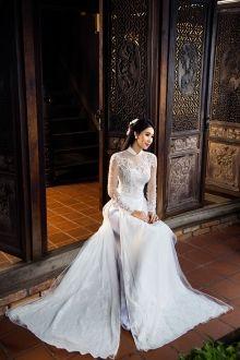 Áo dài cưới Minh Châu 2