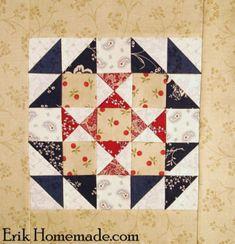 Footstool Block photo--Ben Franklin Mystery Quilt Block 26