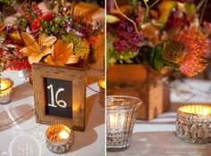 Dollar store frames with chalkboard paint for table numbers