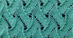 Simple lace pattern. The Scroll pattern is reversible making it a good choice for scarves and shawls.