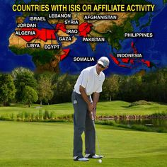 ISIS is burning, and beheading, and continues to be an ever growing threat.  MEANWHILE the president is taking another extended vaca to play golf.  (didn't he just have almost a month off for Christmas and new years )... oh, I digress,.  Our leader has his eye on the ball..... problem is, it is the wrong one.