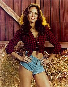 "Daisy Duke, played by Catherine Bach from the American television series ""The Dukes of Hazzard"". After this movie, dressing style of Daisy Duke has become the trend in this period and also known as Daisy Duke style."